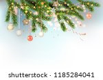 light christmas template with... | Shutterstock .eps vector #1185284041