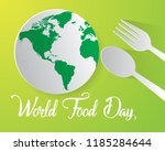 world food day food day... | Shutterstock .eps vector #1185284644