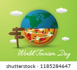 world food day food day... | Shutterstock .eps vector #1185284647