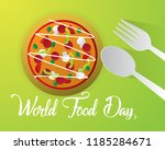 world food day food day... | Shutterstock .eps vector #1185284671