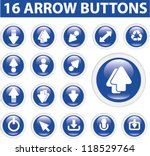 arrow buttons  icons set  vector