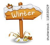 Winter Wooden Arrow Board