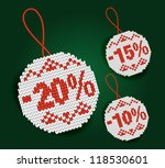 sale percent price tags | Shutterstock .eps vector #118530601