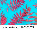 multicolored autumn leaf on a... | Shutterstock . vector #1185309574