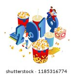 premiere of new movies in 2019. ... | Shutterstock .eps vector #1185316774