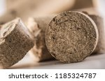 close up wooden pressed... | Shutterstock . vector #1185324787