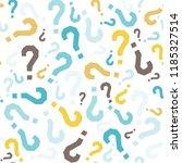 quiz seamless pattern. question ...   Shutterstock .eps vector #1185327514