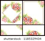 vintage delicate greeting... | Shutterstock .eps vector #1185329434