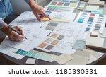 architect designer interior... | Shutterstock . vector #1185330331