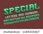 special alphabet with numbers... | Shutterstock .eps vector #1185333367