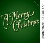 merry christmas hand lettering  ... | Shutterstock .eps vector #118533577