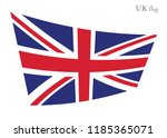 waving great britain flags on... | Shutterstock .eps vector #1185365071