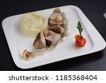 juicy tenderloin  sprinkled...   Shutterstock . vector #1185368404