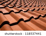 spanish tile roof. abstract...