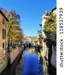 Small photo of Canal in Mantua, Lombardy, Italy