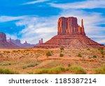 camel butte is a giant... | Shutterstock . vector #1185387214