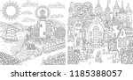 coloring pages. coloring book... | Shutterstock .eps vector #1185388057