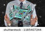 apps concept between hands of a ... | Shutterstock . vector #1185407344