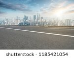road pavement and chongqing... | Shutterstock . vector #1185421054
