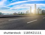 road pavement and guangzhou... | Shutterstock . vector #1185421111