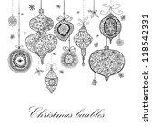 doodle textured christmas...   Shutterstock .eps vector #118542331