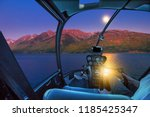 helicopter cockpit interior... | Shutterstock . vector #1185425347