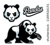 panda mascot istyle with... | Shutterstock .eps vector #1185426151