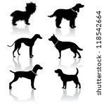 dog silhouette icons | Shutterstock .eps vector #118542664