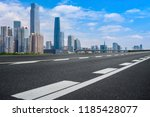 road pavement and guangzhou... | Shutterstock . vector #1185428077