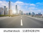 road pavement and guangzhou... | Shutterstock . vector #1185428194