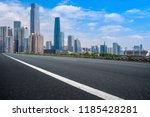 road pavement and guangzhou... | Shutterstock . vector #1185428281