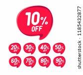 sale discount banner. discount... | Shutterstock .eps vector #1185432877