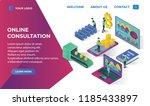 bitcoin landing page website... | Shutterstock .eps vector #1185433897