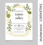wedding invitation card... | Shutterstock .eps vector #1185437041