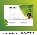 modern certificate with trendy... | Shutterstock .eps vector #1185437737