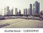 avenue in modern city | Shutterstock . vector #118543945