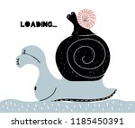 card with lettering loading in... | Shutterstock .eps vector #1185450391