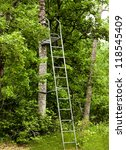 A Metal Ladder Style Stand Use...