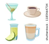 isolated object of drink and... | Shutterstock .eps vector #1185464734