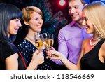 portrait of several friends... | Shutterstock . vector #118546669