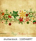 vintage christmas card with...   Shutterstock .eps vector #118546897