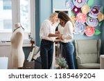 two smart looking pretty women...   Shutterstock . vector #1185469204