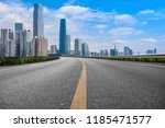 road pavement and guangzhou... | Shutterstock . vector #1185471577