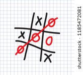 tic tac toe game on the... | Shutterstock .eps vector #1185472081