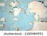 a rusty wall. blue and white... | Shutterstock . vector #1185484951