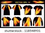 vector shirt polo  vest  v neck ... | Shutterstock .eps vector #118548931