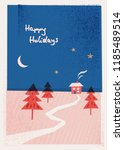 christmas card with winter... | Shutterstock .eps vector #1185489514