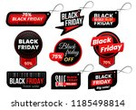 black friday tag. market sale... | Shutterstock .eps vector #1185498814