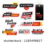 black friday labels. sale... | Shutterstock .eps vector #1185498817