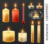candle fire. wax candles for... | Shutterstock .eps vector #1185499057